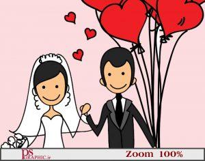 تقویم 97 لایه باز دیواری رمانتیک -ازدواج و آتلیه عروس 2